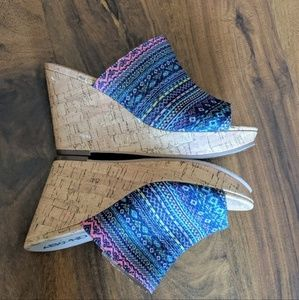 Abound Aztec Design Wedge Sandals